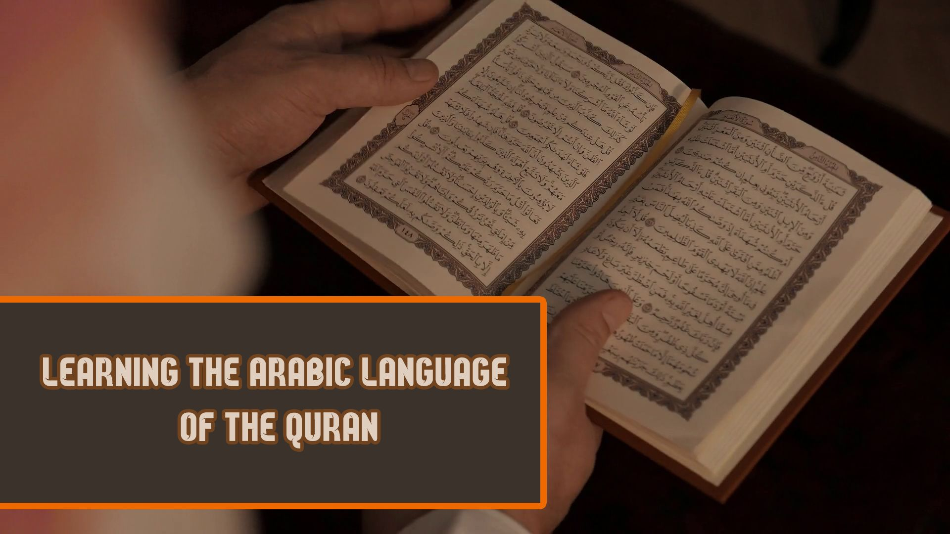 Arabic language of the quran